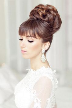 Wedding Hairstyles for the Glamorous Look - via Elstile