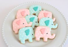 Baby shower elephant cookies by Miss Biscuit Baby Cookies, Baby Shower Cookies, Iced Cookies, Biscuit Cookies, Cute Cookies, Cookie Desserts, Cupcake Cookies, Sugar Cookies, Baby Shower Drinks