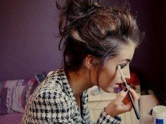 messy bun with a dressy outfit, perfect