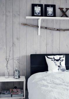 my scandinavian home: Bedroom Nordic Bedroom, Cosy Bedroom, Bedroom Decor, Decor Room, Lodge Bedroom, White Bedroom, Bedroom Ideas, Bedroom Bed, Bedroom Designs