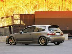 Brown Honda Civic SiR Hatchback