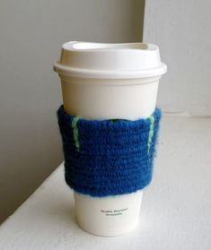 Weave a Sleeve for Your Coffee Cup.