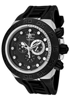 Invicta Watch 1530 Men's Subaqua Chronograph Black Dial Black Polyurethane