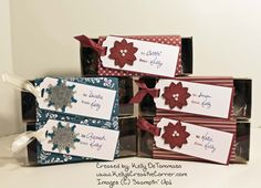 Quick and Easy Gift Boxes  #stampinup #stampin' #up! #giftboxes #gift