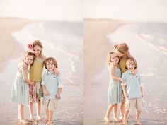 Posh Poses | Family | Sibling Inspiration | Summertime Love | Beach Bums in Pastels | Bare Feet & Candid Smiles