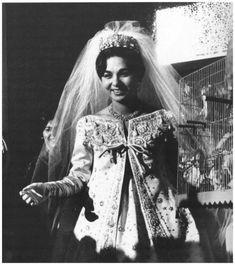 Yves Saint Laurent for Dior, Farah Diba, wedding gown, 1959 Royal Wedding Gowns, Royal Weddings, Wedding Bride, Wedding Dresses, Farah Diba, Christian Dior, Ysl Saint Laurent, The Shah Of Iran, Royal Brides