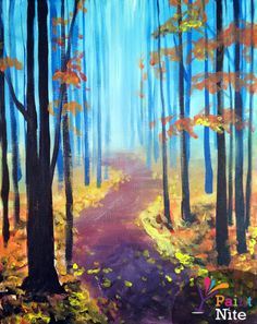#PaintNite Painting: A Walk in the Fall