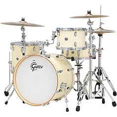 Gretsch Drums Catalina Club Classic Shell Pack with Bass Drum Satin White Chocolate