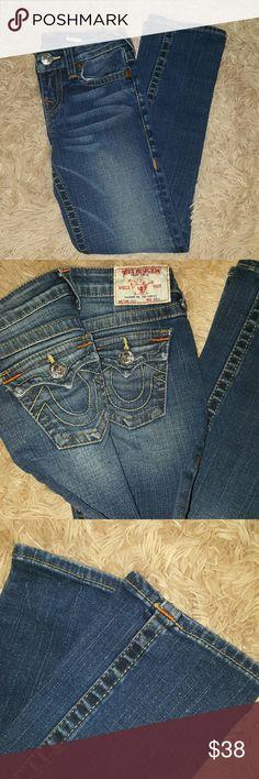 True Religion girls Jeans size 7 New  Dark Jeans straight leg size 7 True Religion Bottoms Jeans
