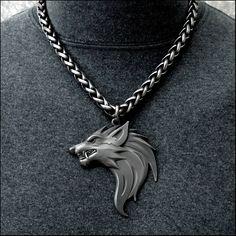 Fantasy Jewelry, Gothic Jewelry, Unique Jewelry, Handmade Jewelry, Wolf Jewelry, Viking Jewelry, Man Jewelry, Jewellery, Wolf Necklace