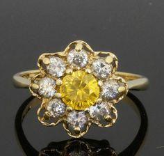 diamond daisy ring - Google Search