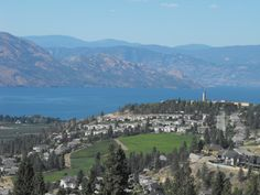 View over Mission Hill Estate Winery from our patio  Lakeview Memories Boutique B & B, Okanagan Valley, Canada, BC, #travel, #honeymoon