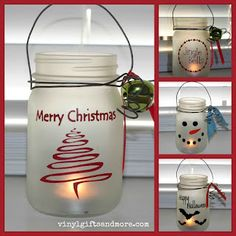 I know this is a Christmas craft BUT you could really do this and substitute the Christmas decorations for anything that matches your home. I am really getting into Mason Jars!!