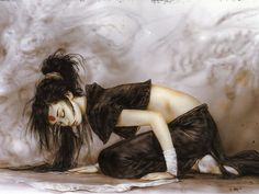 Luis Royo is a Spanish artist, known for his sensual and dark paintings, his fantasy worlds and mechanical life forms. Royo has produced paintings, Fantasy Art Women, Fantasy World, Dark Fantasy, Dark Paintings, Fantasy Paintings, Fantasy Illustration, Illustration Sketches, Hd Wallpaper, Wallpapers
