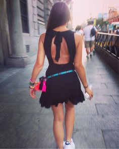 Street style Madrid <3 Handmade acessories <3 Stan Smith <3 Love it !! Backless dress <3