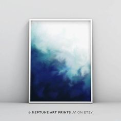 Abstract Nature, Abstract Print, Blue Abstract Painting, Framed Wall Art, Wall Art Prints, Wall Décor, Kunst Poster, Blue Poster, Minimalist Poster