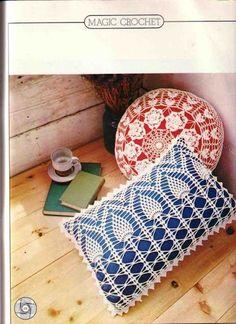 Crochet Knitting Handicraft: Cushions