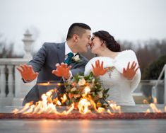 By the Fire Pit, Palace at Somerset Park Wedding © Zlatko Batistich