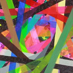 Neon & spacescape paintings by Maya Hayuk