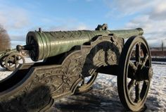 old Medieval Bronz cannon. Except cannons weren't around back then...