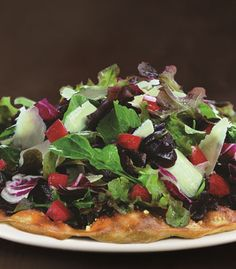 Tricolore Salad Pizza from California Pizza Kitchen California Pizza Kitchen Menu, Tasty, Yummy Food, Nutrition Information, Vegetable Pizza, Healthy Eating, Dishes, Cooking Ideas, Orange County