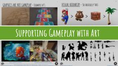 SUPPORTING GAMEPLAY WITH ART    A presentation on the relationship between gameplay and game graphics, what you should take into account when creating graphics for games, and how to apply the principles in practice.    Contains over 40 slides of compact information, with speaker notes, lots of pretty pictures, and practical examples from real games. Targeted at beginner game artists, but also for anyone interested in games and game design in general. Pretty Pictures, Game Design, Compact, Presentation, How To Apply, Notes, Relationship, Graphics, Artists