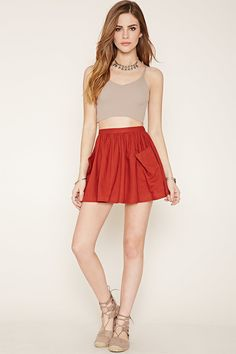 PEDIDOS SOLO POR #ENCARGO Código: F-25 Linen-Blend Mini Skirt Color: Rust Talla: XS-S-M-L Precio: ₡21.500 ($39,67)  Whatsapp ☎8963-3317, escribir al inbox o maya.boutique@hotmail.com  Envíos a todo el país. #MayaBoutiqueCR ❤