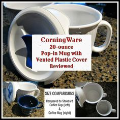 CorningWare 20 oz Pop-in Mug with Vented Cover Moving To China, Can Of Soup, Standard Coffee, Soup Mugs, Hot Soup, Article Writing, Together We Can, Taking Pictures, Craft Tutorials