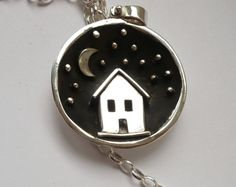 sterling silver miniature silversmith shadowbox handmade pendant