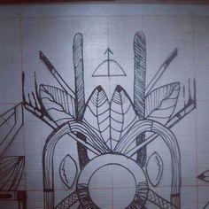 Lembrando que esses desenhos estão sendo disponibilizados pra tatuagem ... Com @sanktattoo  @netofurone  @sins_one @zureta_gt e @iel_estacio #tecnorganics #goodmorning #flecha #caçador #ixlutx #planetando #folhas #desenhos #papel #dutos #ciclos #natureza #nankin #desenho #boceto #esboço #draw #tattoo #tatuagem #disponivel #fragmentos #risca #oxossi #odé