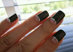 Black silver and nude half moons
