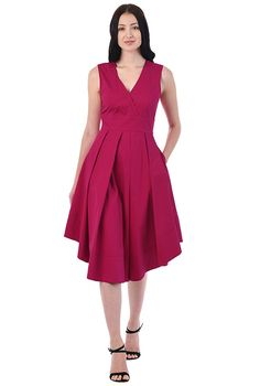 Shop eShakti for chic party dresses in the most sought-after styles - little black dresses and cocktail dresses in every hue, strapless dresses and more. Fit And Flare, Hemline, Night Out, Hot Pink, Ready To Wear, Dresses For Work, Cocktail Parties, Clothes For Women, Skirts