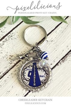 Personalized key chains make a fabulous gift for a cheerleader, Cheer Coach or the entire Cheer Team! Show your school spirit with a custom key ring designed in your school colors. The key chain can be hooked onto a cheer bag, back pack or purse! Cheer Coach Gifts, Cheer Coaches, Cheerleading Gifts, Team Gifts, Personalized Gifts, Handmade Gifts, Jewelry For Her, School Gifts, Etsy Crafts