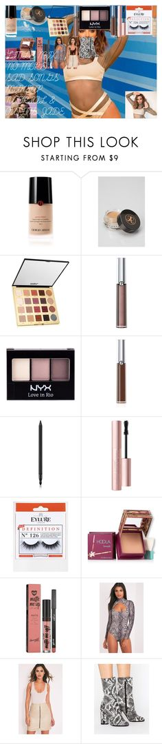 """""""LITTLE MIX 'NO MORE SAD SONGS' MAKEUP TUTORIAL & OUTFITS JADE"""" by oroartye-1 on Polyvore featuring beauty, Giorgio Armani, Anastasia Beverly Hills, tarte, NYX, Armani Beauty, Too Faced Cosmetics, eylure, Rimmel and Hoola"""