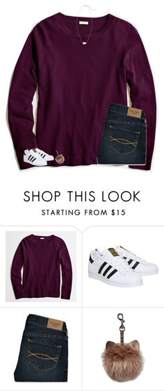 """""""deleting polyvore:("""" by sweettoothegj ❤ liked on Polyvore featuring J.Crew, adidas, Abercrombie & Fitch and Kendra Scott"""