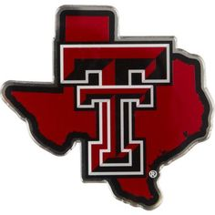 Stockdale Texas Tech University Metallic State Auto Emblem (Red, Size ) - NCAA Licensed Product, NCAA Novelty at Academy Sports