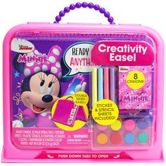 Disney 94814 Minnie Mouse Creativity Easel Craft Kits Felt Kits Flower Pressing Jewelry Mosaics Paint with Water Kits Paint-By-Number Kits Paper Craft Sand Art Scrapbooking Sewing Wood Stickers Art Kits For Kids, Crafts For Kids, Disney Princess Bedroom, Stencil Stickers, Kids Makeup, Disney Gift, Bitty Baby, Cute Outfits For Kids, Stationery Set