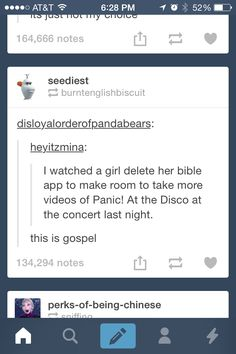 I'm Christian but I love panic at the disco so I may be in love with this person