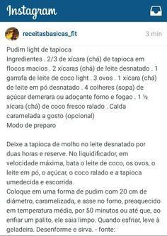 Pudim light de tapioca