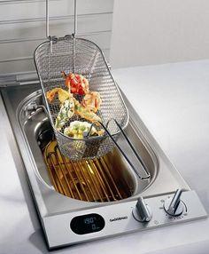 Built in Outdoor Deep Fryers  #appliances #gaggenau #kitchen Pinned by www.modlar.com