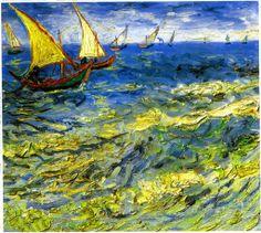 Vincent van Gogh. Seascape at Saintes-Maries, c1888