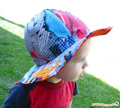 Surf 'n' Turf Sunhat- Video Tutorial- This simple sunhat shades your toddler in style.  It's reversible, so it's twice as fun! Fits ages 1-3 years.
