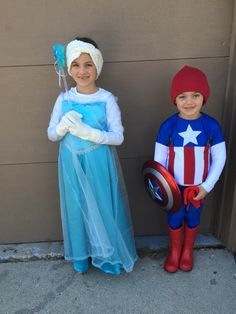 Halloween 2015 Simplicity 1233 Elsa and Simplicity 1030 Captain America