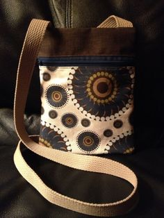 Chocolate Swirl Runaround Bag by CottonNanny on Etsy