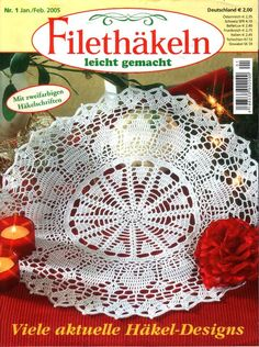 A journal of my continual love for crocheted doilies and other beautiful creations in thread. Crochet Mandala, Crochet Motif, Crochet Designs, Knit Crochet, Crochet Books, Crochet Home, Thread Crochet, Table Topper Patterns, Doily Patterns