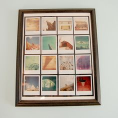 Love this! Favorite #framed #polaroids from @stacie_grissom