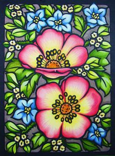 Jules Cote' (18+ division) from Floral Designs Stained Glass Coloring Book: (no longer available)