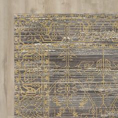 Found it at Wayfair - Menton Gray / Gold Area Rug