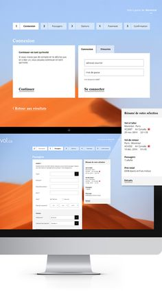 Envol.ca, site d'achats de billets d'avion on Behance