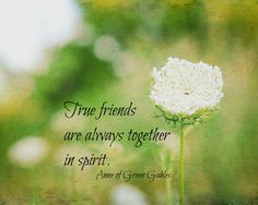 Anne of Green Gables Quote Wall art Print True Friends Together Spirit Friendship Photography Nature Decor L. M. Montgomery. $25.00, via Etsy.